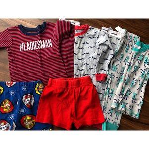 Boys Toddler 2T Pajama Lot